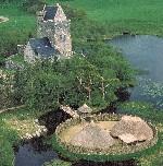 Aerial view of Craggaunowen