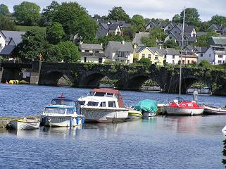 Boats tied up at Killaloe